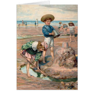 KRW Vintage Beach Illustration Card