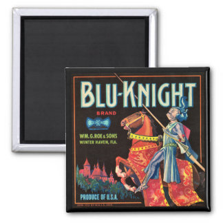 KRW Vintage Blu-Knight Fruit Crate Magnet