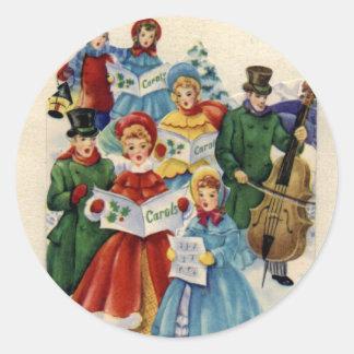 KRW Vintage Carolers Holiday Stickers