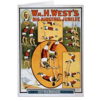 KRW Vintage Circus Poster Card