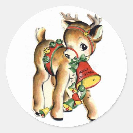 KRW Vintage Cute Lil Reindeer Holiday Sticker