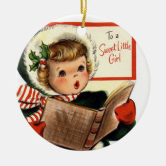 KRW Vintage For Sweet Little Girl Custom Ornament