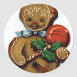 KRW Vintage Gingerbread Man Holiday Sticker