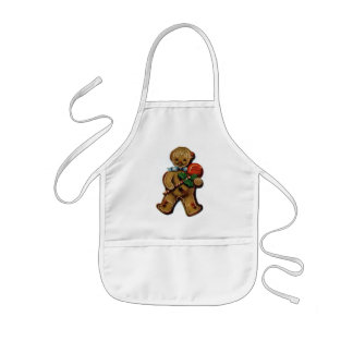 KRW Vintage Gingerbread Man Kid's Holiday Apron