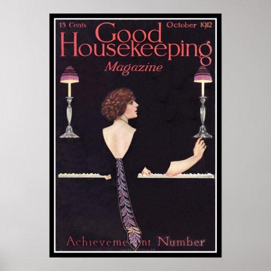 KRW Vintage Good Housekeeping 1912 Magazine Poster