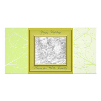 KRW Vintage Green Custom Photo Holiday Card Personalized Photo Card