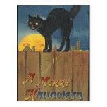 KRW Vintage Halloween Black Cat