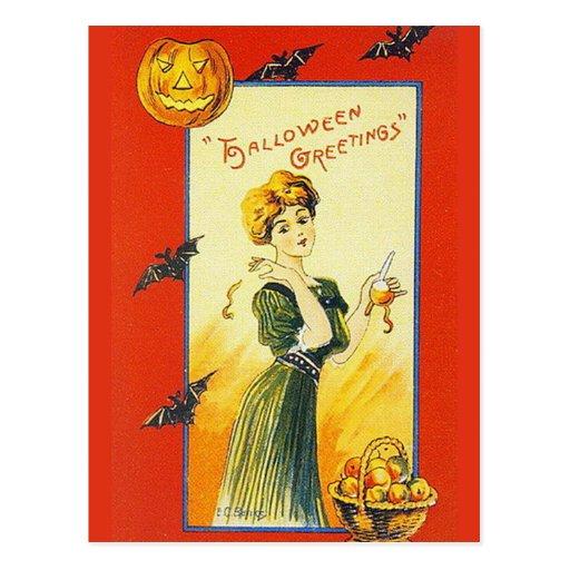 KRW Vintage Halloween Greetings Post Cards