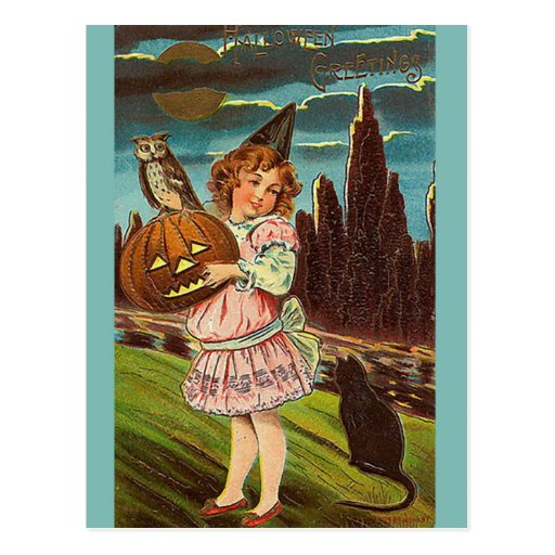 KRW Vintage Halloween Post Card