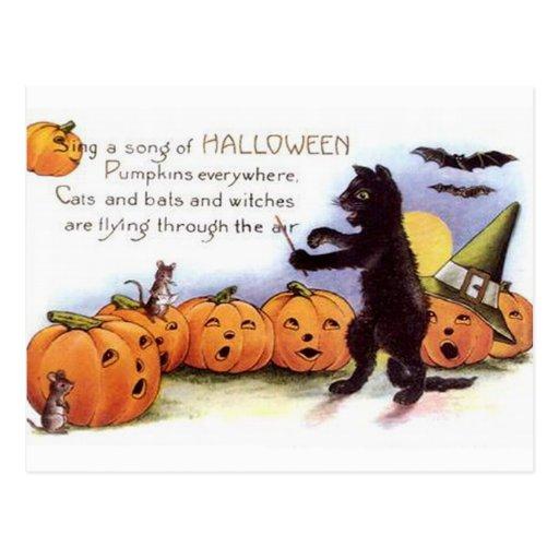 KRW Vintage Halloween Postcard
