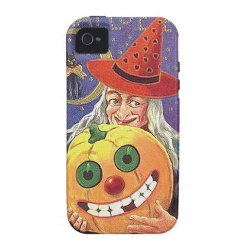 KRW Vintage Halloween Witch and Pumpkin Case iPhone 4/4S Covers