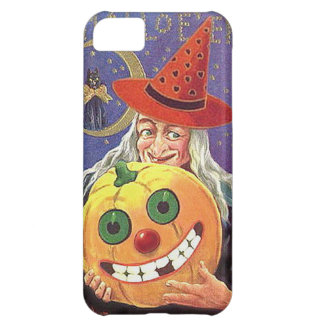 KRW Vintage Halloween Witch and Pumpkin Case Cover For iPhone 5C