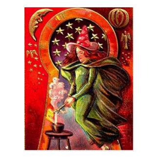 KRW Vintage Halloween Witch Postcards