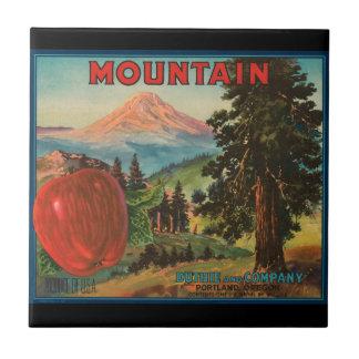 KRW Vintage Mountain Apples Fruit Crate Label Tile