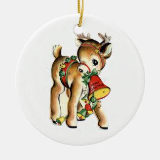 KRW Vintage Reindeer Christmas Ornament