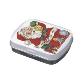 KRW Vintage Santa and Toys Jelly Belly Candy Tin