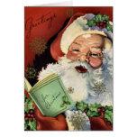 KRW Vintage Santa Claus Christmas Card