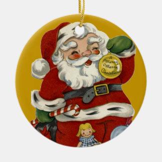 KRW Vintage Santa Claus Christmas Ornament