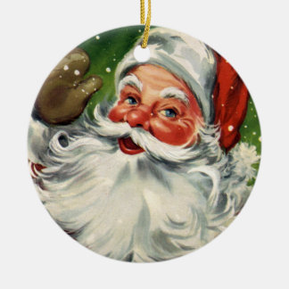 KRW Vintage Santa Claus Holiday Ornament