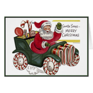 KRW Vintage Santa in Car Holiday Card