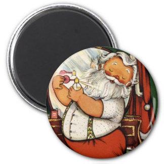 KRW Vintage Santa Prepares Christmas Magnet