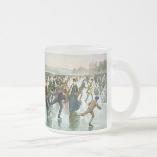 KRW Vintage Skaters 1885 Holiday Frosted Mug