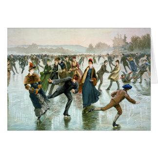 KRW Vintage Skating 1885 Holiday Card
