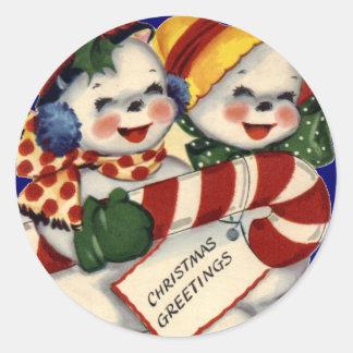 KRW Vintage Snowcouple Christmas Sticker