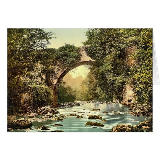 KRW Vintage The Dargle Bridge County Wicklow Card