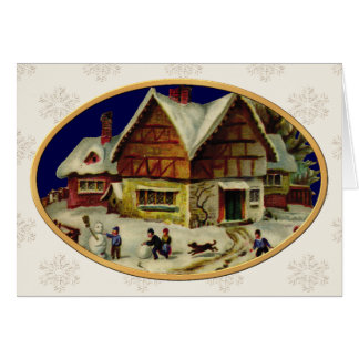 KRW Vintage Winter Scene Holiday Card