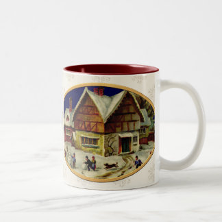 KRW Vintage Winter Scene Holiday Coffee Mug