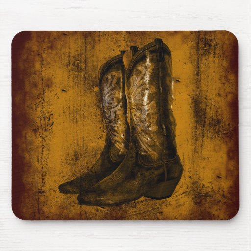 KRW Western Wear Cowboy Boots Mouse Pads