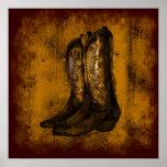KRW Western Wear Cowboy Boots Poster