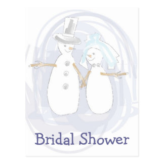 KRW Winter Snowmen Custom Shower Invitation Postcard