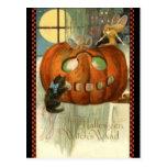KRW Witches Wand Vintage Halloween Postcard