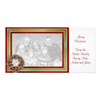KRW With Love Christmas Wreath Photo Card