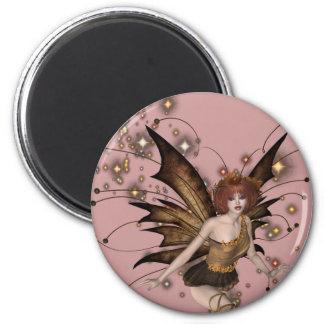 KRW Woodland Faery 6 Cm Round Magnet