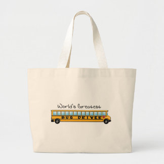 KRW World's Greatest Bus Driver Large Tote Bag