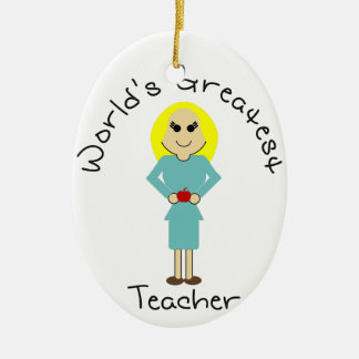KRW World's Greatest Teacher Ornament