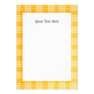 KRW Yellow Check 4 25 x 5 5 Custom Invitation
