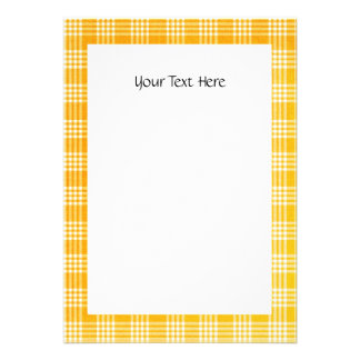 KRW Yellow Check 5 X 7 Custom Invitation
