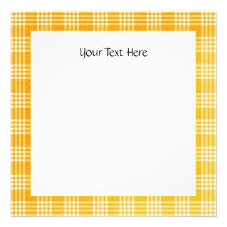 KRW Yellow Check Square Custom Invitation