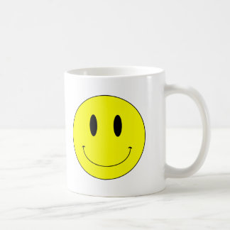 KRW Yellow Smiley Face Coffee Mug