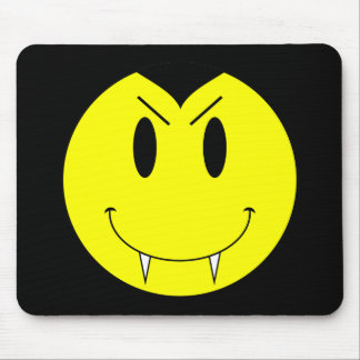 KRW Yellow Smiley Face Vampire Mouse Mat