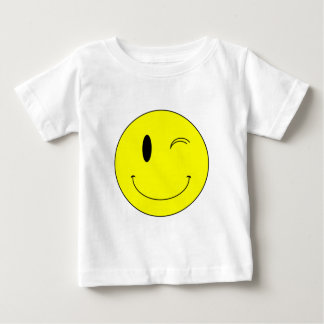 KRW Yellow Winking Smiley Face Baby T-Shirt