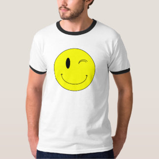 KRW Yellow Winking Smiley Face T-Shirt