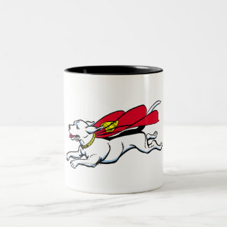 Krypto the dog Two-Tone coffee mug