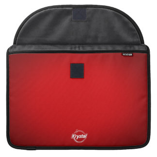Krystal Logo Red MacBook Pro Sleeve