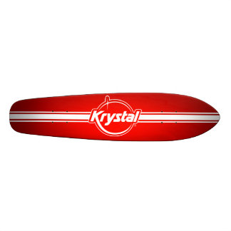 Krystal Logo with Strip Skateboard