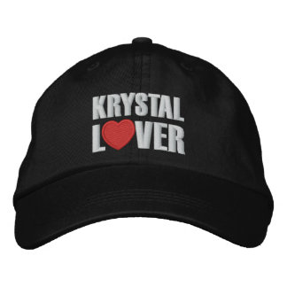Krystal Lover Embroidered Baseball Caps